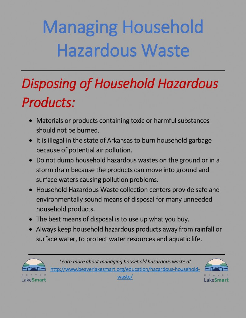 When disposing household products