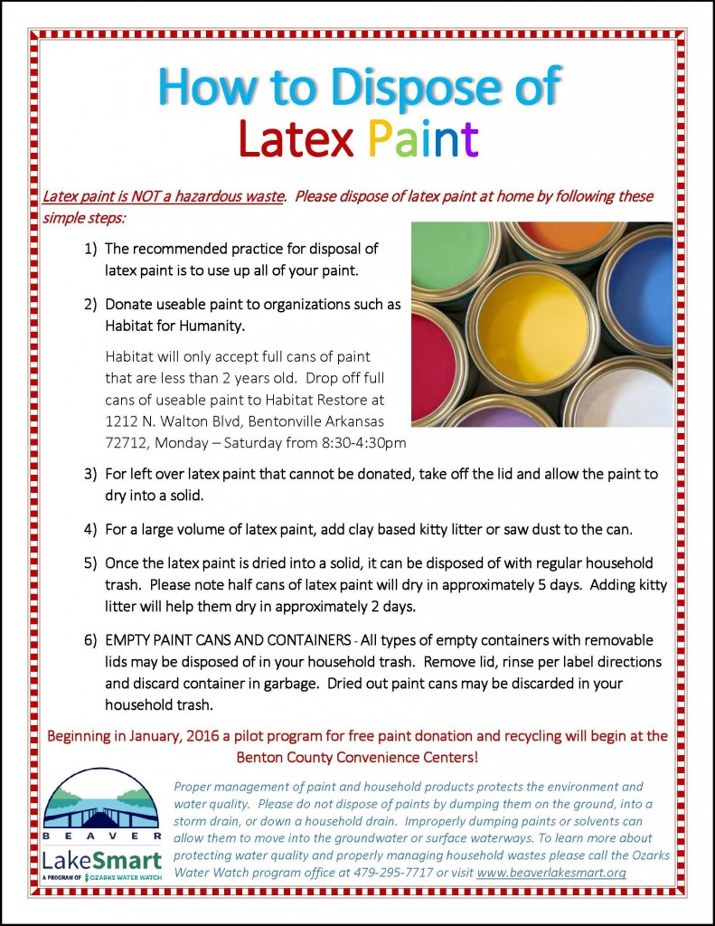 Steps for Latex Paint Disposal outline