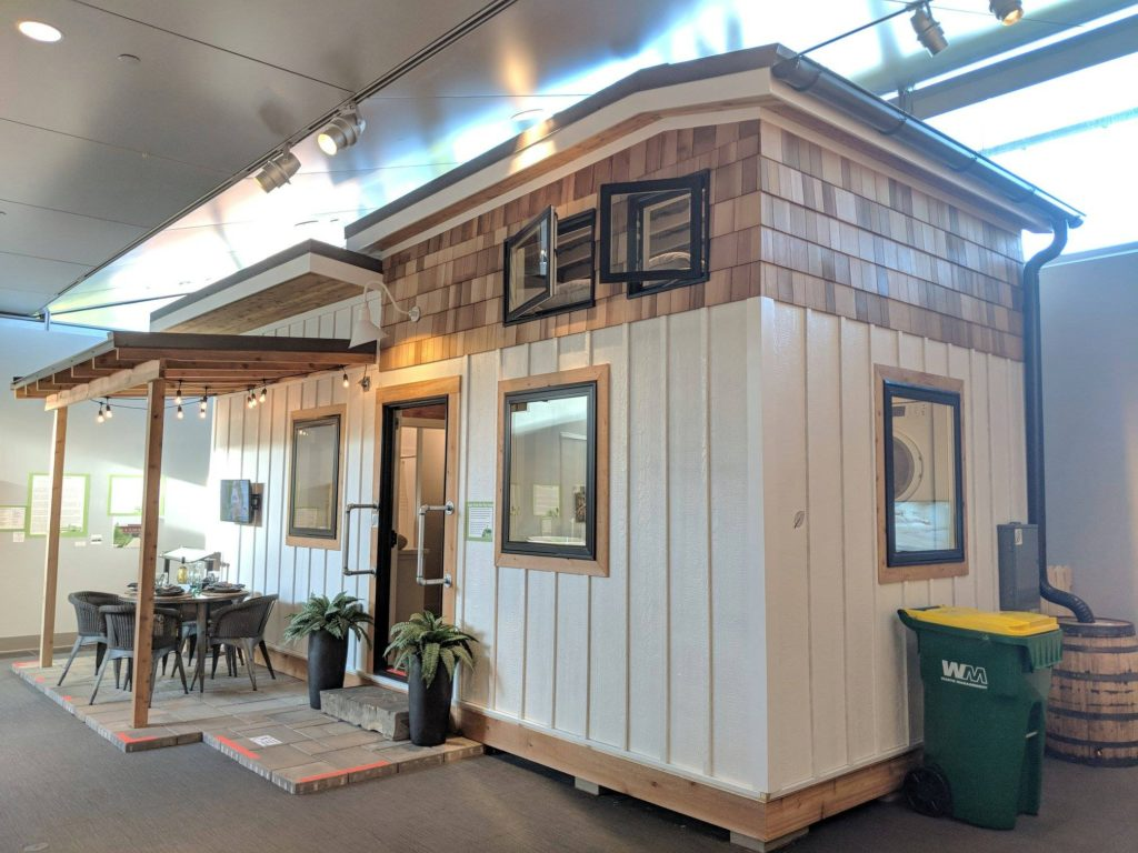 Sustainability Exhibit Tiny House On Display In Little